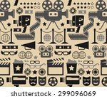 seamless background with cinema ... | Shutterstock .eps vector #299096069