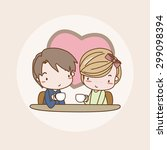 falling in love girl   lady  ... | Shutterstock .eps vector #299098394