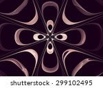 abstract fractal flower... | Shutterstock . vector #299102495
