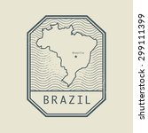stamp with the name and map of... | Shutterstock .eps vector #299111399