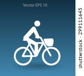 flat cyclist icon | Shutterstock .eps vector #299111645