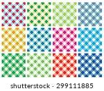 multicolor checkered pattern... | Shutterstock . vector #299111885