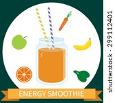 illustration of healthy energy... | Shutterstock . vector #299112401