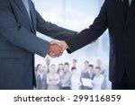 composite image of handshake in