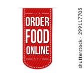 order food online banner design ... | Shutterstock .eps vector #299117705