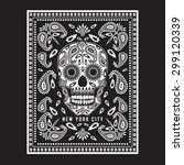 skull bandana illustration ... | Shutterstock .eps vector #299120339