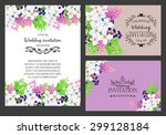wedding invitation cards with...   Shutterstock . vector #299128184
