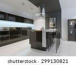 idea of minimalist kitchen .... | Shutterstock . vector #299130821