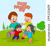 friendship day background with... | Shutterstock .eps vector #299132609