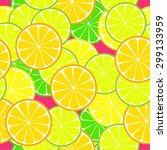 Seamless  Citrus Pattern. Frui...