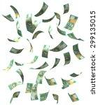 falling australian dollar bills....   Shutterstock . vector #299135015
