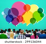 speech bubbles message concept... | Shutterstock . vector #299136044