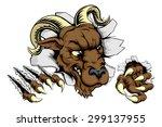 ram sports mascot breakthrough... | Shutterstock .eps vector #299137955