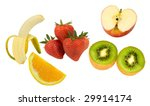 healthy bunch apple banana kiwi ...   Shutterstock . vector #29914174