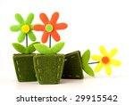flower decoration from felt | Shutterstock . vector #29915542