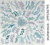 vector pen drawing hand... | Shutterstock .eps vector #299156795