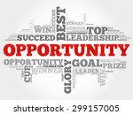 opportunity word cloud ... | Shutterstock .eps vector #299157005