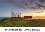 sunset at the tacking point... | Shutterstock . vector #299158481