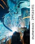 welding robots movement in a... | Shutterstock . vector #299161451