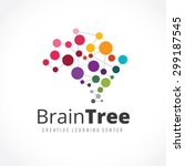 brain tree brain logo mine... | Shutterstock .eps vector #299187545