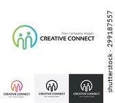 creative connect logo template  ... | Shutterstock .eps vector #299187557
