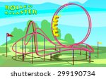Rollercoaster In Amusement Park