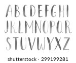 watercolor alphabet  hand... | Shutterstock . vector #299199281