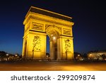 arc de triomphe in paris | Shutterstock . vector #299209874