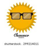 summer glasses digital design ... | Shutterstock .eps vector #299214011