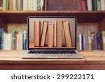 e book library concept with... | Shutterstock . vector #299222171