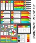 big set of infographic banner... | Shutterstock .eps vector #299234519