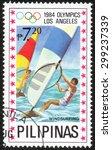 philippines   circa 1984  a...   Shutterstock . vector #299237339