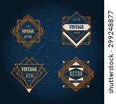 set of art deco geometric retro ... | Shutterstock .eps vector #299248877