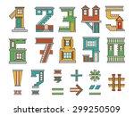 handmade font  cartoon style... | Shutterstock .eps vector #299250509