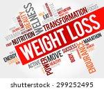 weight loss word cloud  fitness ... | Shutterstock .eps vector #299252495