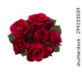 Bouquet Of Red Roses Isolated...