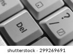 delete key shown on a computer... | Shutterstock . vector #299269691