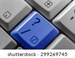 showing a question mark button... | Shutterstock . vector #299269745