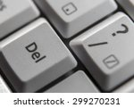 delete key shown on a computer... | Shutterstock . vector #299270231