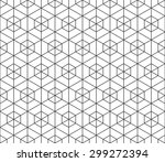 seamless black and white... | Shutterstock . vector #299272394