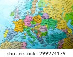 map view of europe on a...   Shutterstock . vector #299274179
