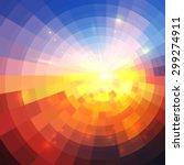 abstract sunset effect... | Shutterstock . vector #299274911
