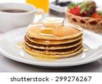 breakfast  pancake  food.   Shutterstock . vector #299276267
