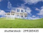beautiful custom house drawing... | Shutterstock . vector #299285435