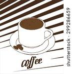 coffee vector illustration... | Shutterstock .eps vector #299286659