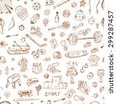 sports. seamless pattern of... | Shutterstock .eps vector #299287457