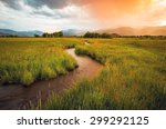 heber valley sunset  utah  usa.  | Shutterstock . vector #299292125