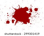 abstract splatter red color on... | Shutterstock .eps vector #299301419