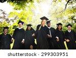 graduation student commencement ... | Shutterstock . vector #299303951