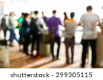 abstract blurred people in... | Shutterstock . vector #299305115
